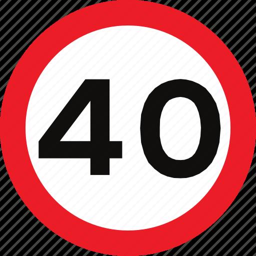 limit, regulatory, sign, speed, traffic sign icon