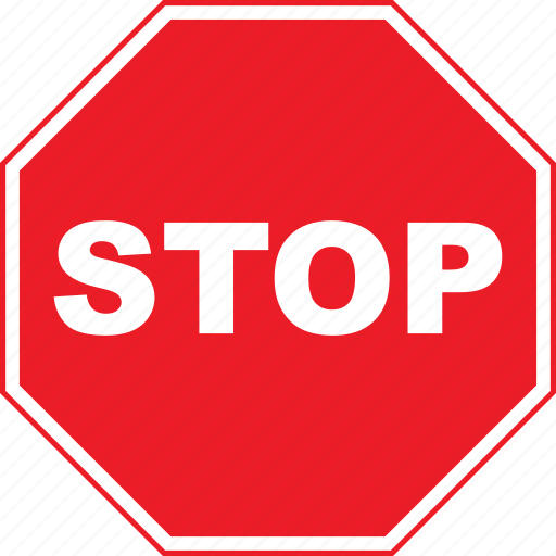 regulatory, sign, stop, traffic sign icon