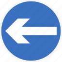 left, regulatory, sign, traffic sign, turn icon