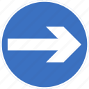 regulatory, right, sign, traffic sign, turn icon