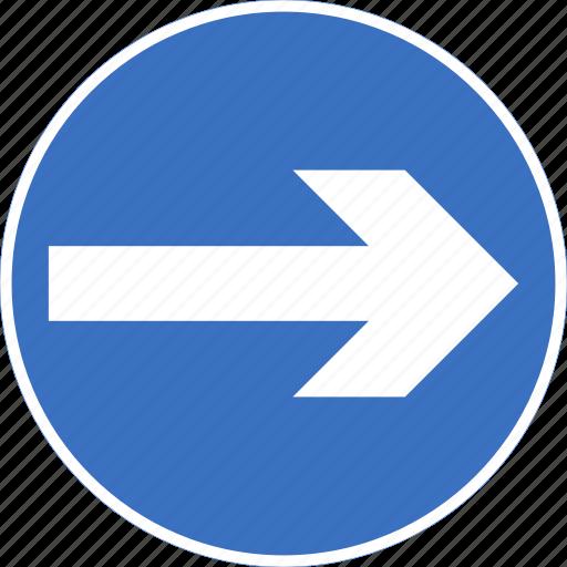 regulatory, right, sign, traffic sign, turn icon