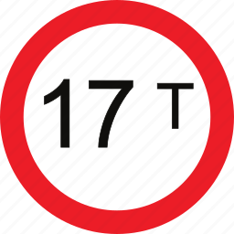 limit, regulatory, sign, traffic sign, weight icon