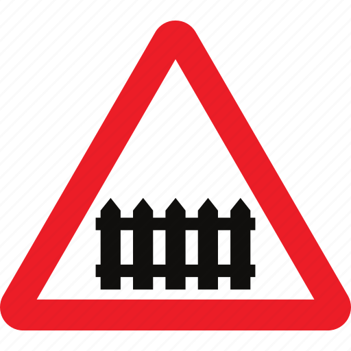 level, rail crossing, sign, train crossing, warning icon