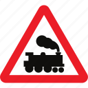 barrier, crossing, level, sign, warning, without icon