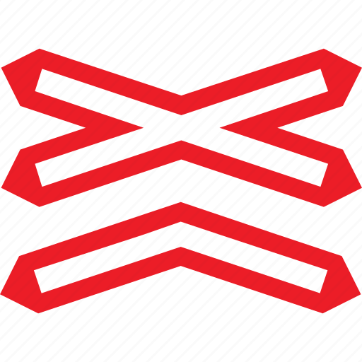 crossing, level, multiple, sign, warning icon