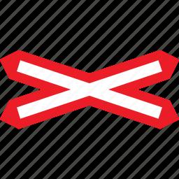 crossing, level, sign, single, warning icon