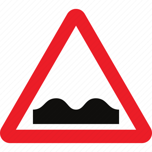 road, sign, uneven, warning icon
