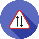 highway, lane, road, sign, tunnel, two, way icon