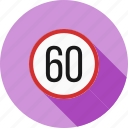 alert, limit, road, sign, speed, traffic icon