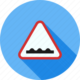 ahead, caution, danger, road, rough, sign, warning icon