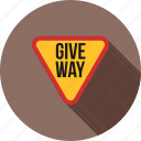 give, red, road, sign, signs, traffic, way icon