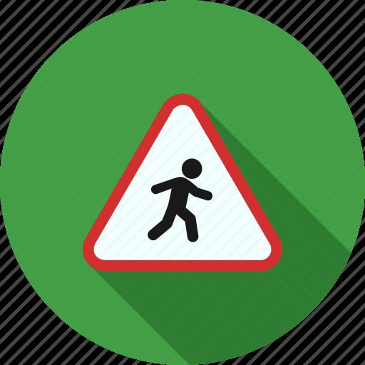 crossing, pedestrian, people, road, sign, street, walk icon