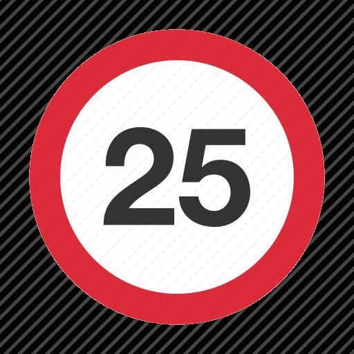 maximum speed, speed, speed limit, speed sign, traffic sign icon