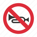 horn, horn prohibit, no horn, prohibit, traffic sign icon