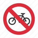 bicycle, bicycle prohibit, no bicycle, prohibit, traffic sign icon