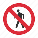 no pedestrian, pedestrian, pedestrian prohibit, prohibit, traffic sign icon