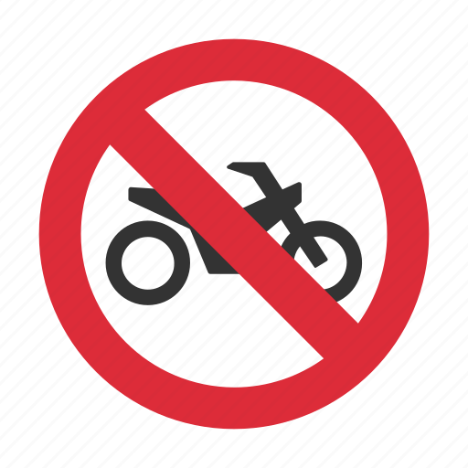 motorcycle, motorcycle prohibit, no motorcycle, prohibit, traffic sign icon