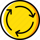 round, sign, traffic, transport, yellow icon