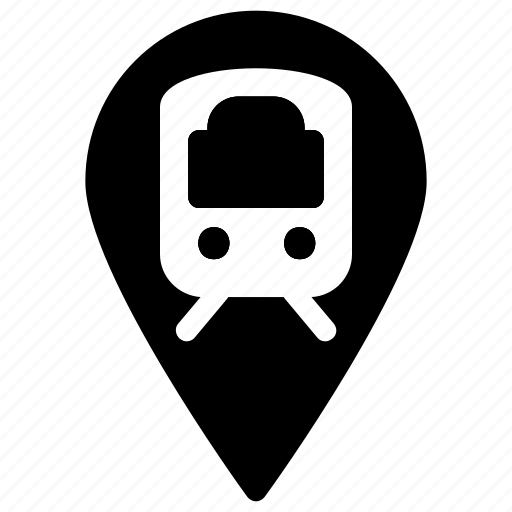 Location, pin, station, train, transportation icon - Download on Iconfinder