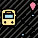 location, maps, route, train icon