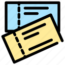 document, paper, station, ticket, train, transportation icon
