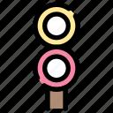 light, sign, station, traffic, train, transportation icon