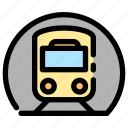 railways, train, transportation, tunnel icon