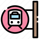 shuttle, station, stop, train, transportation icon