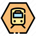 sign, station, train, transportation icon