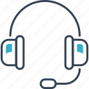 headphones, music, sound, training icon