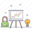 business seminar, business training, business presentation, business idea, business coaching icon