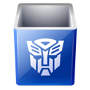 bin, decepticon, empty, recycle, transformers icon