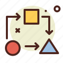 arrows, interface, loading, processing icon
