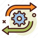 arrows, direction, interface, loading, processing, wheel icon