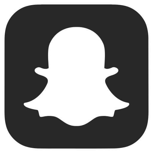 Black and white, dark grey, snapchat icon