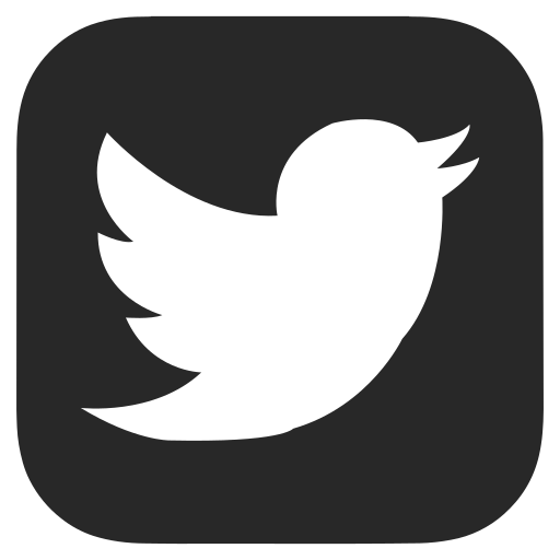 black twitter icon png black and white, dark grey, twitter icon