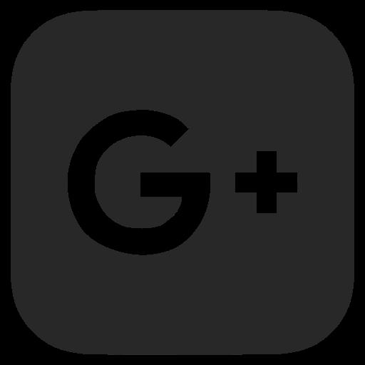 black and white, dark grey, google plus icon