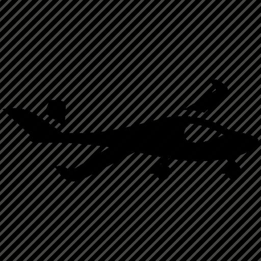 aero vehicle, aeroplane, air transport, aircraft, airliner, plane, privat jet icon