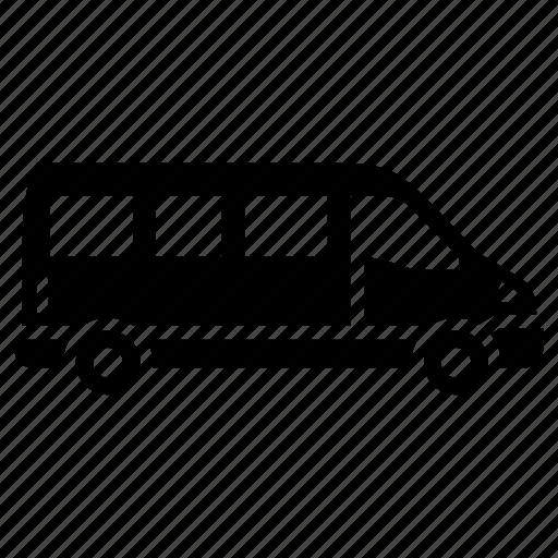 cargo van, side view, sprinter van, van icon