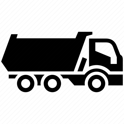 dump, dumper, freight transport, tipper, truck icon