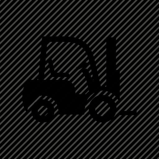 car, forklift, freight transport, loader, truck icon