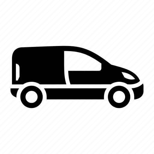 automobile, car, mini van, sprinter van, transport icon