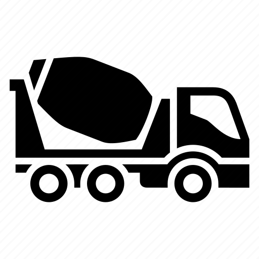 car, cement, concrete mixer, freight transport, truck, vehicle icon