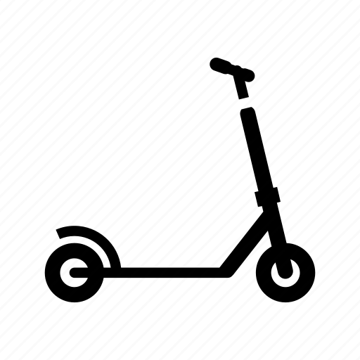 kick scooter, kids scooter, micro scooter, sport, transport icon