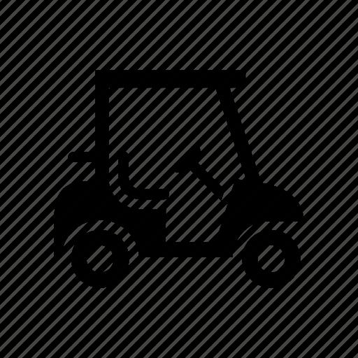 golf, golf car, golf cart, sport transport icon