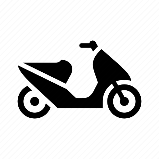 Bike, delivery, moped, motorbike, motorcycle, scooter icon - Download on Iconfinder