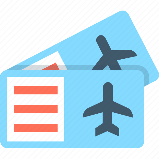 air ticket, airplane, plane ticket, ticket, travel icon