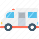 ambulance, emergency, emt, medical van, transport icon