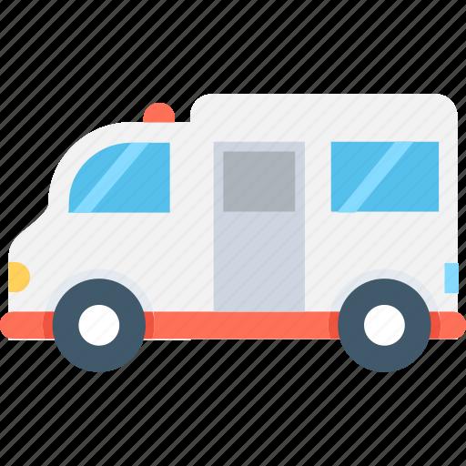 ambulance, emergency, emt, medical van, transport icon