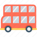 bus, double decker, london bus, transport, traveling icon